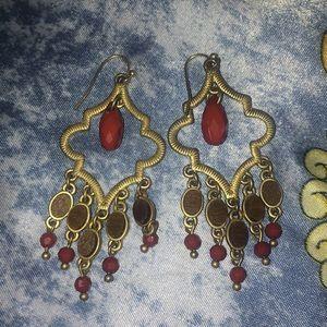 Lia Sophia boho chic beaded dangly earrings